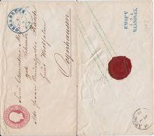 Hannover Ganzsache U 5 II K2 Osnabrück Rs Bahnpost N Oeynhausen Ca 1860 - Hannover