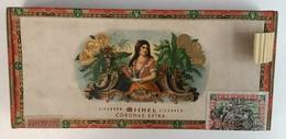 EMPTY  TOBACCO  BOX    CIGARREN  MICHEL CIGARREN - Schnupftabakdosen (leer)