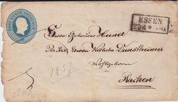 Preußen Ganzsache U 12 Ra2 Essen N Aachen Ca 1857 - Preussen
