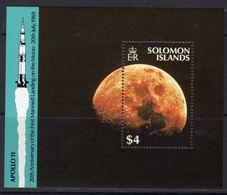 Solomon Islands 1989 20th Anniversary Of Moon Landing MS, MNH, SG 656 (B) - Solomon Islands (1978-...)
