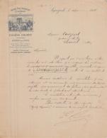 16 2127 SEGONZAC CHARENTE 1896 Grande Fine Champagne EUGENE GOURRY Proprietaire Viticulteur A COUZINET D EBREUIL - 1800 – 1899