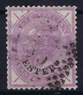 Italy Levant  Sa  8 , Mi 8 Obl./Gestempelt/used   1874 Signed/ Signé/signiert/ Approvato - 11. Oficina De Extranjeros