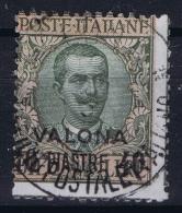 Italy: Levant Valona  Sa Nr 8 Mi 30  Obl./Gestempelt/used - 11. Auslandsämter