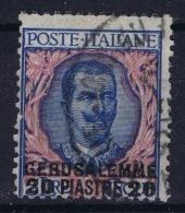 Italy: Levant  Gerusalemme Sa Nr 7 Mi  26 II Obl./Gestempelt/used - Bureaux D'Europe & D'Asie