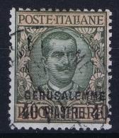 Italy: Levant  Gerusalemme Sa Nr 8 Mi  27 II Obl./Gestempelt/used - Bureaux D'Europe & D'Asie