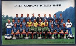 Italia 1989 INTER Campione D'Italia Di Calcio 1988 - 1989 18 Buste FDC Filagrano + 1 Cartolina In Comodo Contenitore - Famous Clubs