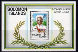 Solomon Islands 1992 Jacob Vouza, War Hero MS, MNH, SG 727 (B) - Salomoninseln (Salomonen 1978-...)