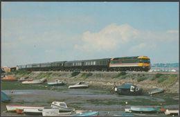 British Rail No 47620 Windsor Castle At Cockwood Harbour, Devon - Dawlish Warren Postcard - Trains
