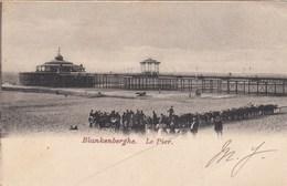 BLANKENBERGE / DE PIER MET KIOSK HALVERWEGE / VERHUUR VAN EZELTJES - Blankenberge