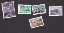 Argentina, Scott #B12, B14-B17, Mint Hinged, Stamp Designing, Postal System, Flood, Issued 1950-58 - Argentina
