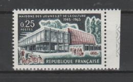 FRANCE / 1965 / Y&T N° 1448 ** : M.J.C. - Gomme D'origine Intacte - Francia