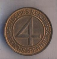 Deutsches Reich Jägernr: 315 1932 G Vorzüglich Bronze 1932 4 Reichspfennig Reichsadler (9157907 - [ 3] 1918-1933 : Weimar Republic