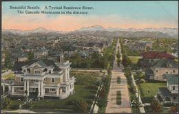 A Typical Residence Street, Seattle, Washington, C.1913 - Lowman & Hanford Postcard - Seattle