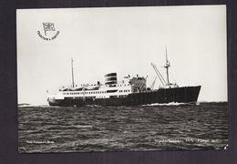 "CPSM BÂTEAU - M/S "" HÄKON JARL "" TB PAQUEBOT Nordenfjeldskes - Coastal Round Voyages To Northern Norway - Dampfer"
