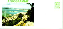 GIBRALTAR. Aérogramme Neuf. View From Upper Rock Of North End Of Harbour And Bay. - Gibraltar