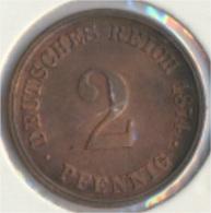 Deutsches Reich Jägernr: 2 1874 C Vorzüglich Bronze 1874 2 Pfennig Kleiner Reichsadler (9157973 - [ 2] 1871-1918: Deutsches Kaiserreich