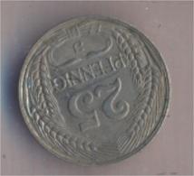 Deutsches Reich Jägernr: 18 1910 J Vorzüglich Nickel 1910 25 Pfennig Reichsadler Im Jugendsti (9157911 - [ 2] 1871-1918 : Imperio Alemán