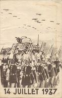 REVUE DU 14 JUILLET 1937 - Programmi