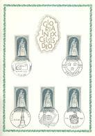 COB 1436  Avec 5 Oblitérations 1er Jour (Lot FN) - Cartes Souvenir