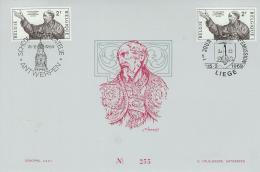 COB 1482  Avec 2 Oblitérations 1er Jour (Lot FN) - Cartes Souvenir