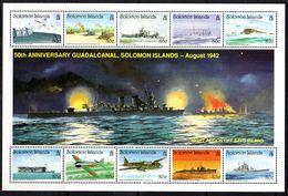 Solomon Islands 1992 Battle Of Guadalcanal, 1 Sheetlet Of 10 X 80c, MNH, SG 738a (B) - Solomon Islands (1978-...)