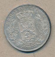België/Belgique 5 Fr Leopold II 1873 Morin 160a (137813) - 1865-1909: Leopold II