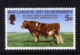 GUERNSEY - 1972 GUERNSEY BULL STAMP FINE MNH ** - Farm