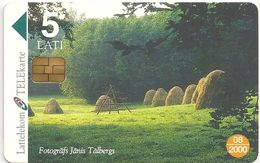 Latvia - Lattelecom - Summer Landscape (CN. 34LAT), 50.000ex, 05.1999, Used - Latvia