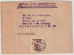 1952, Ermässigter Tarif Für Verleger!    , #a272 - 1945-60 Briefe U. Dokumente