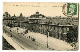 CPA 75 Paris Perspective De L' Ecole Militaire Animé - Enseignement, Ecoles Et Universités