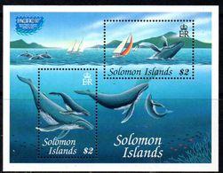 Solomon Islands 1997 Pacific '97 Whales MS, MNH, SG 888 (B) - Solomon Islands (1978-...)