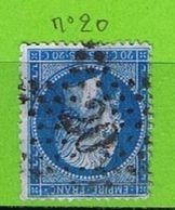 YT N°22 OBLIT ETOILE DE PARIS N°20 - 1849-1876: Période Classique