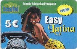 Italy - EasyTel - Easy Latina Naked Girl - Remote Mem. 5€, Used - Italien