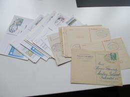 Ganzsachen Posten DDR/ BRD 1952 - 1993 Ab Posthorn GA / PK Mit Bahnpoststempel Insgesamt 24 Karten / GA - Deutschland