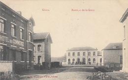 Glons - Avenue De La Gare (café Restaurant Hôtel Du Commerce, Edit. Dejardin Et Fils, Animée 1908) - Bassenge