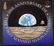 Solomon Islands 1999 30th Anniversary Of 1st Moon Landing MS, MNH, SG 940 (B) - Salomoninseln (Salomonen 1978-...)