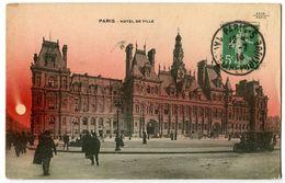 CPA 75 Paris Hôtel De Ville Animé - France