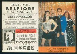 *Les Spectacles Belfiore...* Impreso Díptico. Calendario 1994 Al Dorso. - Otros