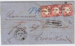 """DR, 1872, Reko-Brief """" Leipzig """"    , #a278 - Deutschland"""