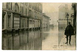 CPA 75 Paris Crue De La Seine Rue De Pontoise Animé - Inondations De 1910