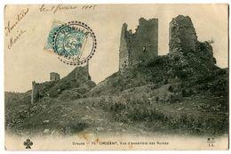 CPA 23 Creuse Crozant Vue D'ensemble Des Ruines - Crozant