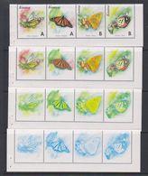 Kosovo 1999 Butterflies Strip 4v Printing Process 4 Strips ** Mnh (F6994) - Kosovo