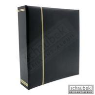 Schaubek Scds1015 Reliure à Vis En Simili-cuir Noire - Klemmbinder