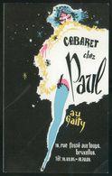 Bruxelles. *Cabaret Chez Paul Au Gaity* Impreso 95x158 Mms. - Otros