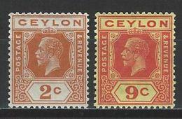 Ceylon SG 344, 345, Mi 186, 192 * MH - Ceylon (...-1947)