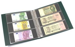 Banknote Album In Large Format With 20 Three-pocket Pages For 120 Banknotes - Supplies And Equipment