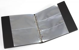 Banknote Album With 20 Crystal-clear Pages In Padded Ring Binder - Supplies And Equipment