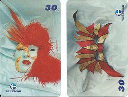 2  Télécartes Brésil Brazil Phonecard  Carnaval Masque (Z.9) - Culture