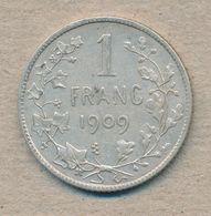 België/Belgique 1 Fr Leopold II 1909 Fr Morin 200a (137842) - 1865-1909: Leopold II