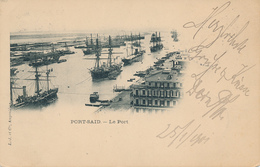 PORT SAID - 1901 , Le Port , Der Hafen - AK Nach NOWAWES - Egipto